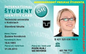 Univerzitný preukaz ISIC